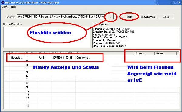 Klicken Sie auf die Grafik für eine größere Ansicht  Name:RSDLite_4.5.3 Flashen.JPG Hits:193 Größe:76,2 KB ID:21281