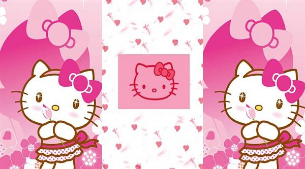 Klicken Sie auf die Grafik für eine größere Ansicht  Name:Hello Kitty  3in1 Wallpaper.jpg Hits:3463 Größe:187,9 KB ID:40088