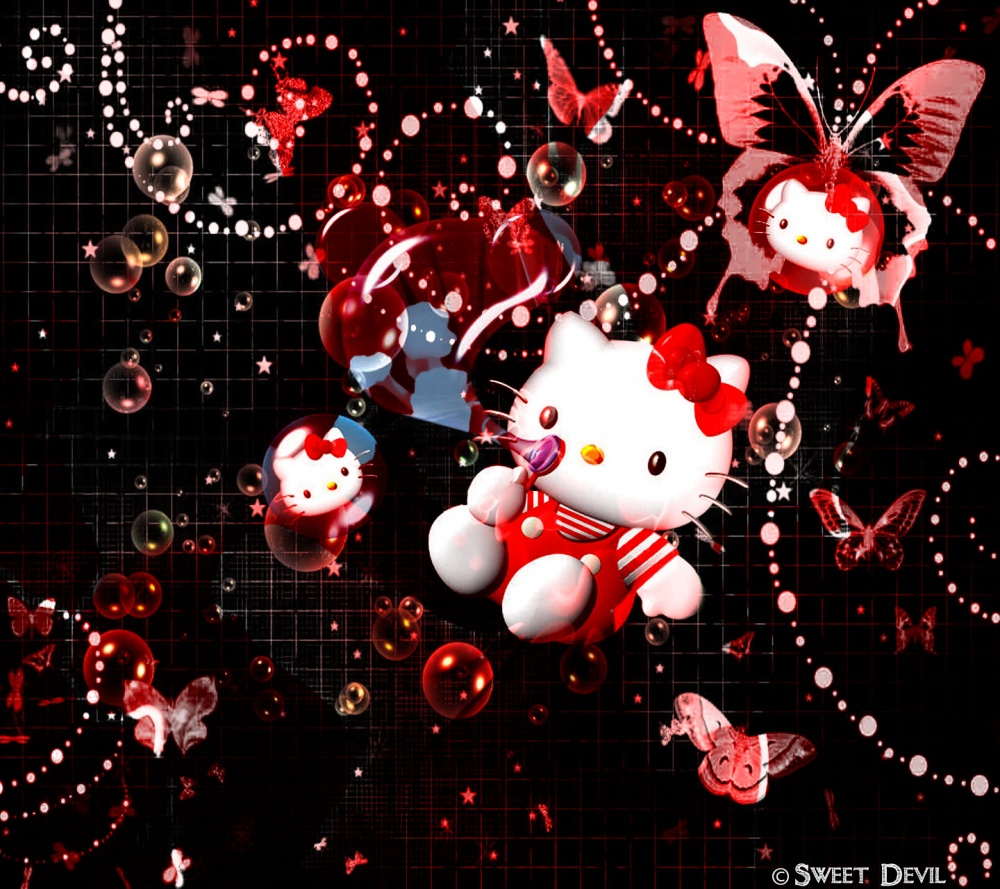 devil hello kitty wallpaper - photo #3