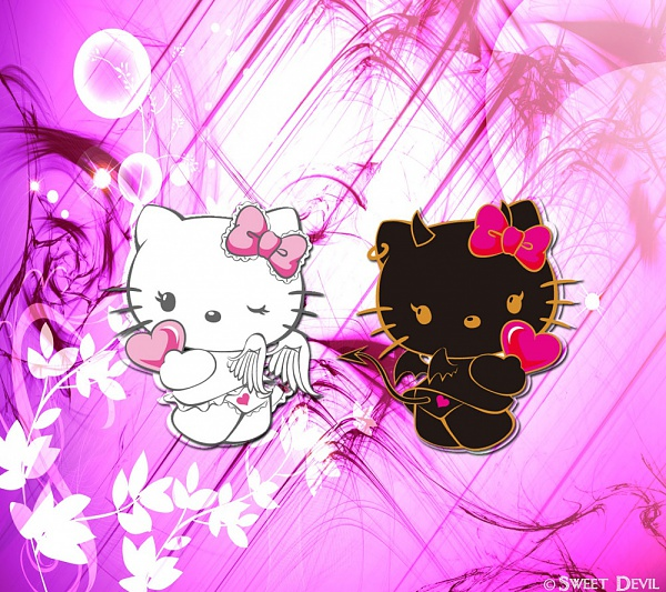 devil hello kitty wallpaper - photo #5