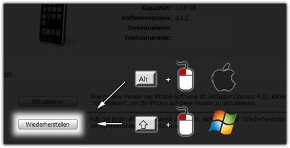 Klicken Sie auf die Grafik für eine größere Ansicht  Name:itunes-11-firmware-wiederherstellen.jpg Hits:1263 Größe:21,0 KB ID:50310