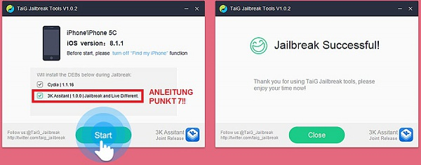 Klicken Sie auf die Grafik für eine größere Ansicht  Name:Jailbreak-Tutorial-iOS-8.x-TAIG-Jailbreak-2.jpg Hits:165 Größe:71,7 KB ID:51584