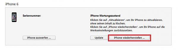 Klicken Sie auf die Grafik für eine größere Ansicht  Name:iphone-wiederherstellen-wartungszustand.png Hits:122 Größe:16,9 KB ID:52113