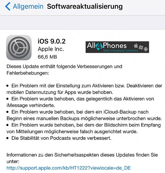 Klicken Sie auf die Grafik für eine größere Ansicht  Name:iphone-ios-update-9.0.2.jpg Hits:228 Größe:317,1 KB ID:52173