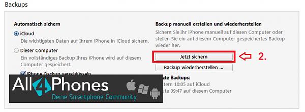 Klicken Sie auf die Grafik für eine größere Ansicht  Name:itunes-backup-erstellen.png Hits:61 Größe:21,6 KB ID:52243