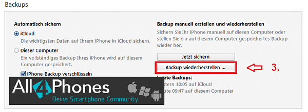 Klicken Sie auf die Grafik für eine größere Ansicht  Name:ios-backup-wiederherstellen-itunes.png Hits:55 Größe:21,9 KB ID:52244