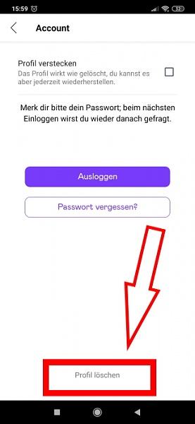 Badoo App: Profil löschen mit dem Smartphone möglich?