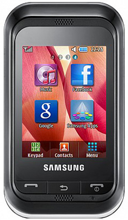 Samsung Champ mit resistiven 2,4 Zoll Touchscreen Display