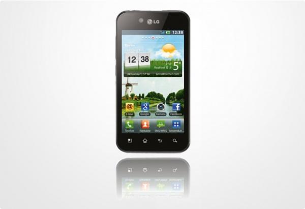 LG Optimus Black P970 mit 1&1 Branding erhalten Update auf  Android 2.3.4 Gingerbread