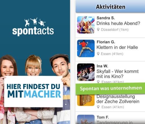 Mit der Spontacts App aktiv werden und seine Freizeit gestalten