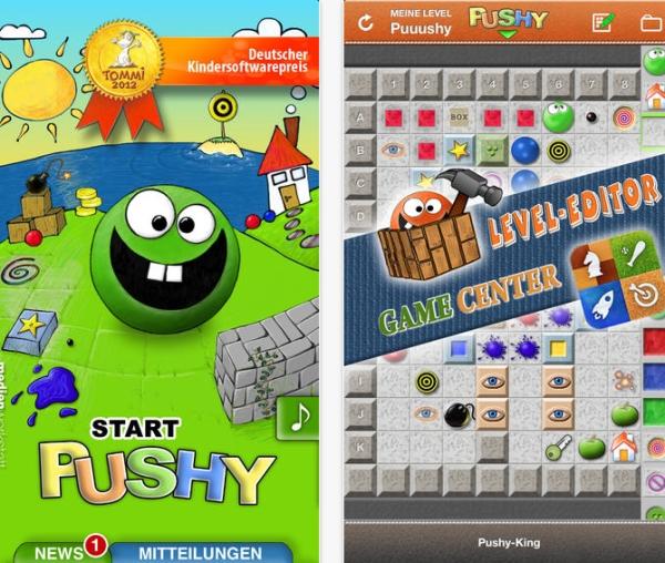 Pushy: Herausfordernde Spiele-App f�r iPhone und Android