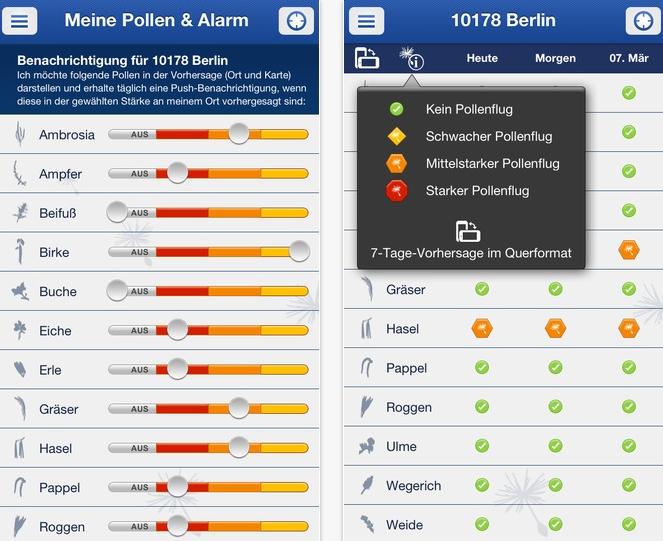 Pollenflug-Vorhersage: App f�r Allergiker im Test
