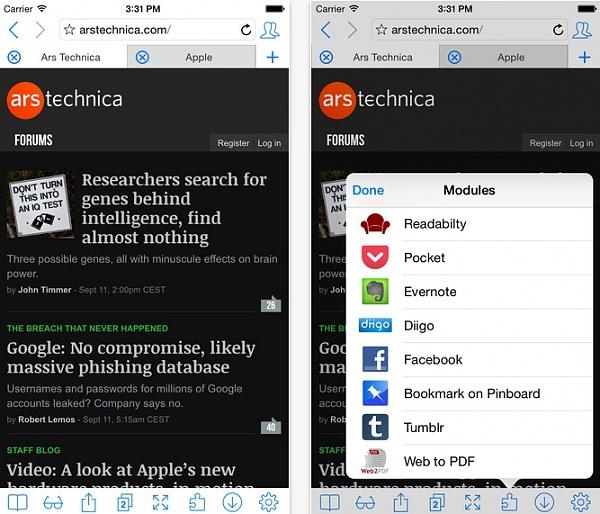 iCab Mobile App: iOS Smartphone-Browser im Test