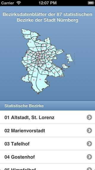 Bezirksdaten App der Stadt N�rnberg: Mit dem Smartphone alle relevanten Daten im �berblick