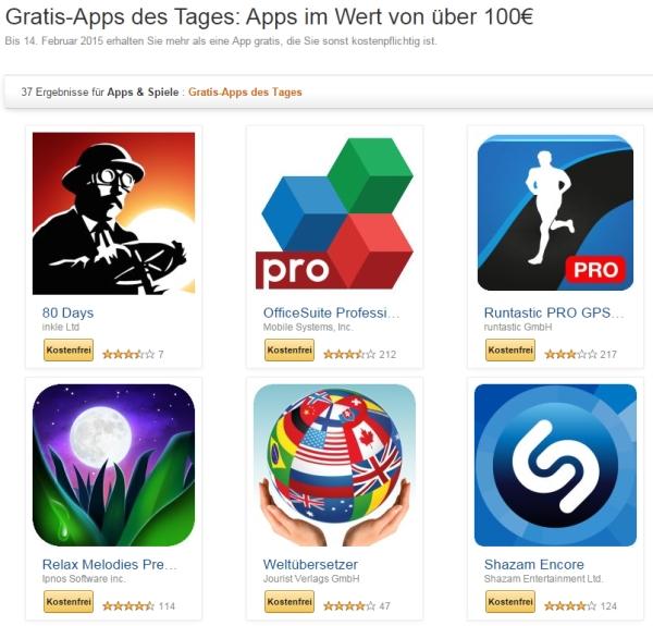Amazon: 37 Android-Apps nur noch bis morgen kostenlos downloaden