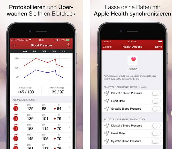 Blutdruck Messen App