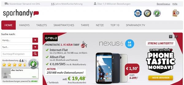 Sparhandy.de - Ein K�lner Online-Unternehmen. Vom Kinderzimmer-Projekt zu 300 Millionen Umsatz pro Jahr