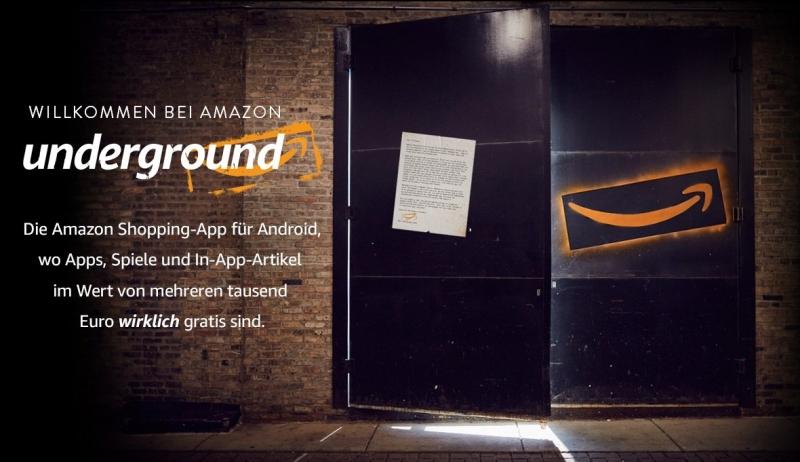 Amazon Underground: Kostenlose Apps f�r Dein Android-Smartphone
