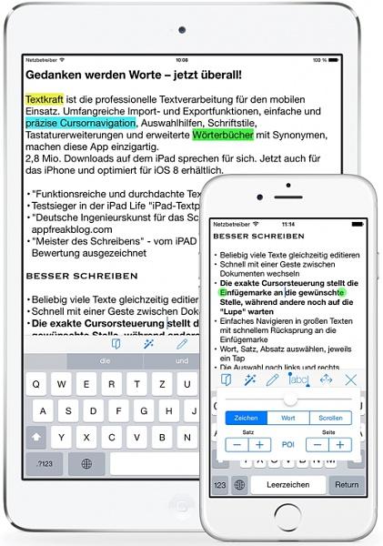Textkraft Pocket App: Mehr als ein normales Textverarbeitungsprogramm