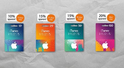 Nur diese Woche: REWE iTunes Karten Rabatt bis zu 20%