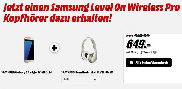 Dicker Media Markt Deal: Samsung Level On Kopfhörer bei Galaxy S7 Kauf geschenkt!