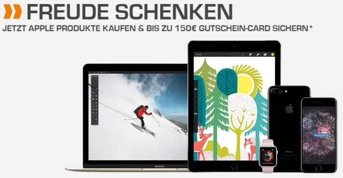 Dicker Saturn Gutschein: Bis zu 150.- Euro beim Kauf von Apple-Produkten sparen!