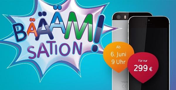 Unitymedia Bääämsation Aktion: iPhone SE für nur 299.- Euro