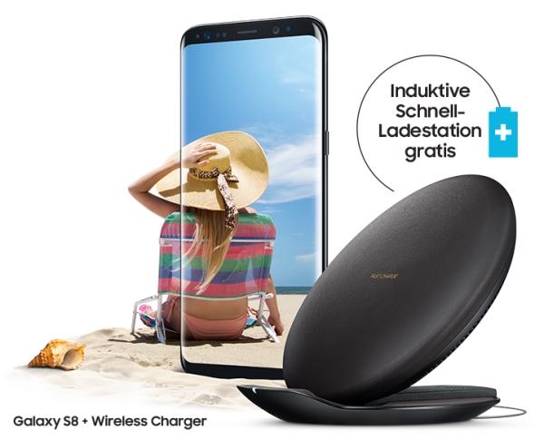 Aktion: Galaxy S8 kaufen und Wireless Charger kostenlos erhalten!