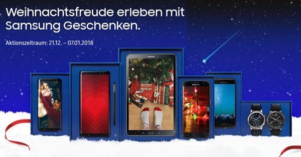 Samsung Weihnachtsaktion: 100€ Rabatt + 256 GB Speicherkarte geschenkt!