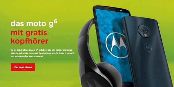 Motorola Moto G6 kaufen = Pulse Escape Kopfhörer geschenkt!