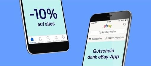 eBay App: Heute bis 20:59 Uhr satte 10% auf fast alle Artikel sparen! (Gutschein Code)